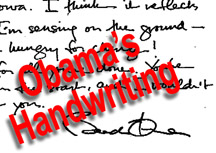Barack Obama handwriting small image