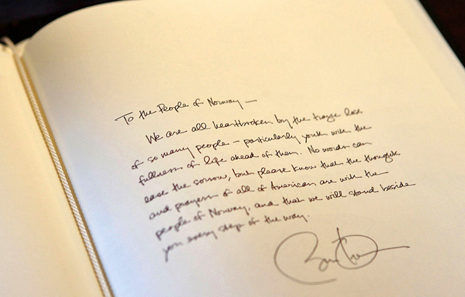 President obamas handwritten letter to the people of norway president obamas handwritten letter to the people of norway spiritdancerdesigns Image collections